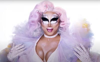 Drag Queen Makeup: Rock M. Sakura's Pastel Tulle Look