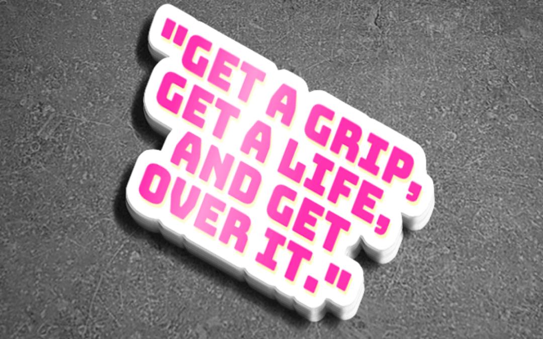 """""""Get Over It"""" Sticker"""